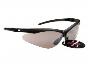 WINDSHIELDZ: ...RAYZOR BLACK FRAMED SPORTS SUNGLASSES WITH SMOKE MIRRORED ANTI GLARE LENS.....