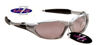 RAYZOR SILVER FULL FRAMED SUNGLASSES WITH A SMOKED SPORTS LENS