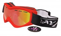 RayZor Red Framed Goggles With an Anti Fog Red Iridium Mirrored Vented Double Lens.................