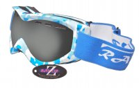 RayZor Blue Camouflage Framed Goggle With an Anti Fog Smoked Mirrored Vented Double Lens.