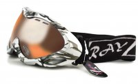RayZor Silver Camouflage Frame With Anti Fog Clear Amber Light Enhancing Vented Double Lens.