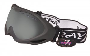 RayZor Black Framed Goggles With an Anti Fog Smoke Mirrored Vented Double Lens.