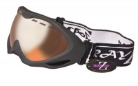 RayZor Black Framed Goggles With an Anti Fog Clear Amber Light Enhancing Vented Double Lens.