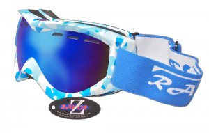RayZor Blue Camouflage Framed Goggle With An Anti Fog Blue Smoked Vented Double Lens.