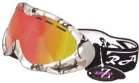 RayZor Silver Camouflage Framed Goggle With an Anti Fog Red Iridium Mirrored Vented Double Lens.