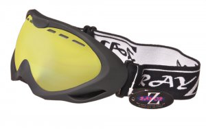RayZor Black Framed Goggles With an Anti Fog Clear Yellow Light Enhancing Vented Double Lens.