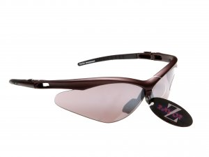 WINDSHIELDZ: RAYZOR DARK RED SPORT SUNGLASSES WITH A SMOKED MIRRORED ANTI GLARE LENS
