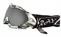 RayZor Silver Camouflaged Framed Goggle With an Anti Fog Vented Smoked Mirrored Anti Glare Double Lens.