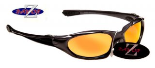 GUNMETAL GREY FULL FRAMED SUNGLASSES WITH A MIRRORED RED LENS