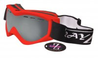 RayZor Red Framed Goggle With an Anti Fog Smoke Mirrored Vented Double Lens.