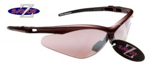 DARK RED SPORTS SUNGLASSES WITH A SMOKED WINDSHIELD SPORTS LENS