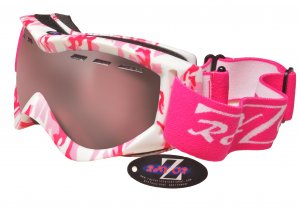 RayZor Pink Camouflage Framed Goggle With an Anti Fog Clear Rose Vented Double Lens.
