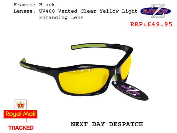 RayZor Uv400 Black Sports Wrap Sunglasses Blue Green Mirrored Lens RRP£49 37