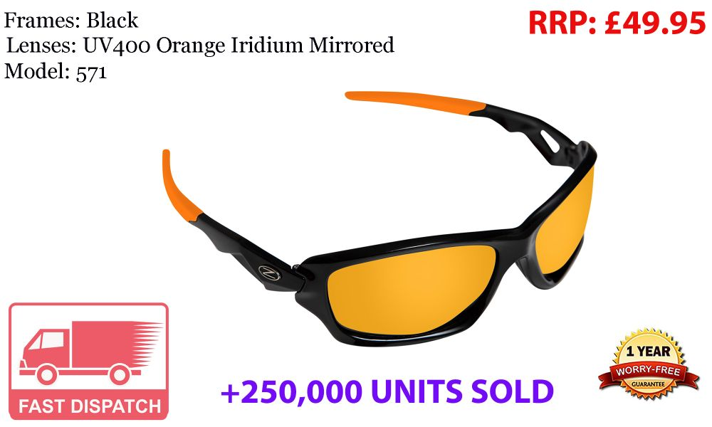 478 RayZor Uv400 White Sports Wrap Sunglasses Orange Mirrored Lens RRP£49