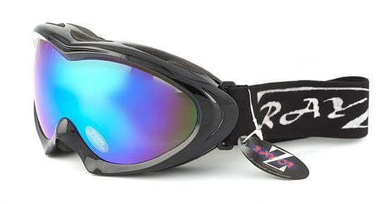 RayZor Black Framed Goggle With An Anti Fog Blue Mirrored Lens.