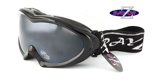 RayZor Black Framed Goggle With An Anti Fog Smoked Lens