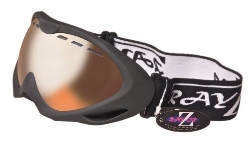 RayZor Blue Camouflage Goggle With Anti Fog Smoked Mirrored Lens